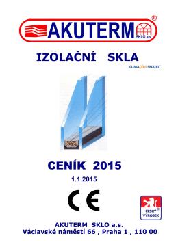 Ceník (pdf) - AKUTERM sklo a.s.