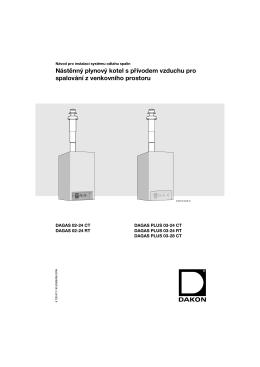 DAGAS 02-03 RT, CT - návod k instalaci systému odstahu