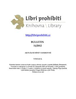 Bulletin 2012/11 - Libri prohibiti