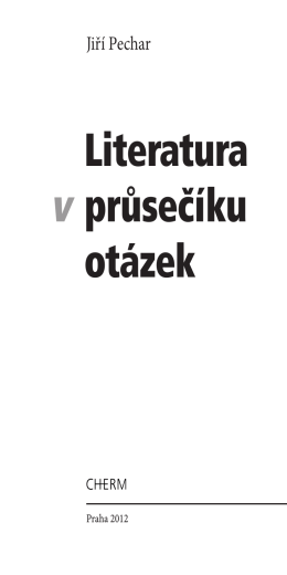 Literatura v průsečíku otázek