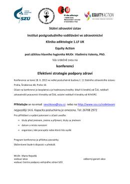 konferenci Efektivní strategie podpory zdraví