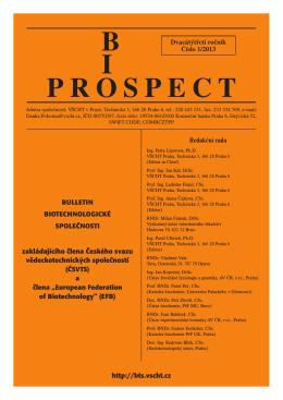 PROSPECT B I - Biotechnologická společnost