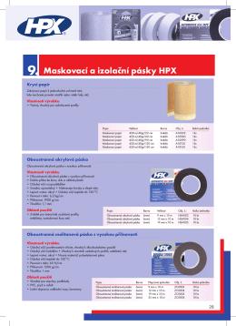 Maskovací a izolační pásky HPX 9.