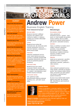 ANDREW POWER Intensive Business English