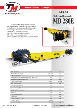 MB 280E Dobývací kombajn