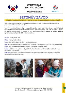 SETONŮV ZÁVOD - 176. PTO Vlčata Bystrc