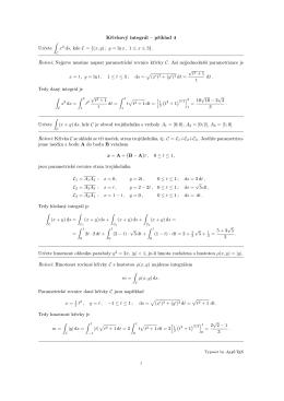Křivkový integrál – příklad 4 Určete ∫ x2 ds, kde C
