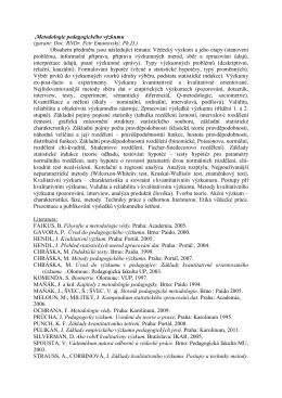 (Metodologie pedagogického výzkumu)