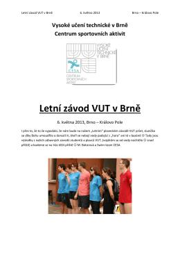 letní plavecké zavody VUT 2013 vysledky a fotky