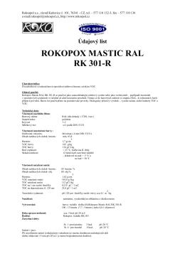 ROKOPOX MASTIC RAL RK 301-R