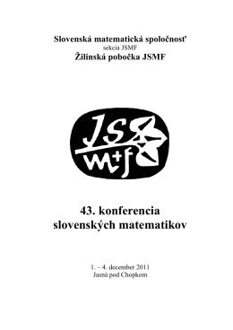 Zborník 43. konferencie slovenských matematikov