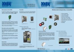 Elektronické komponenty a rozvaděče