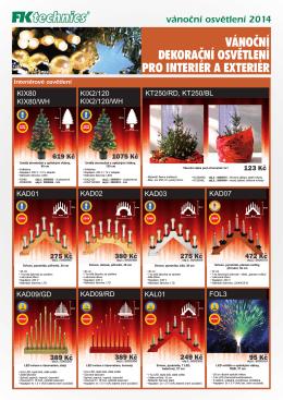 vánoční dekorační osvetlení pro interiér a exteriér