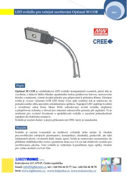 LED svítidla pro veřejné osvětlení Optimal 30 COB
