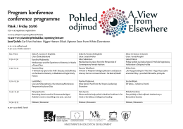 Program konference - A View From Elsewhere