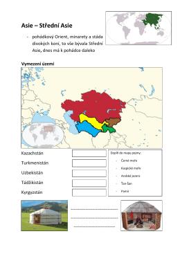 Asie – Střední Asie