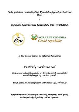pozvánce - Česká společnost rostlinolékařská
