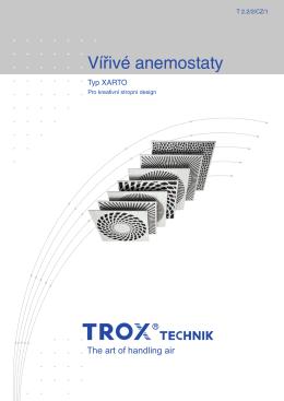 Vířivé anemostaty XARTO
