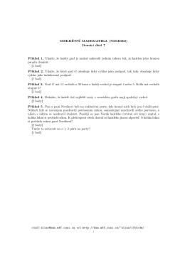 DISKRÉTNÍ MATEMATIKA (NDMI002) Domácí úkol 7 Příklad 1