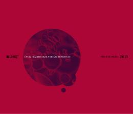Výroční zpráva za rok 2013 - Ústav hematologie a krevní transfuze