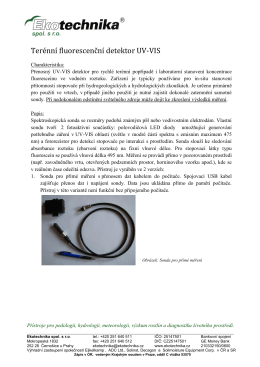 Terénní fluorescenční detektor UV-VIS