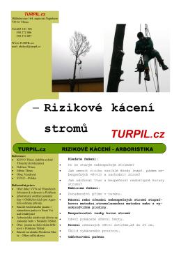 - Rizikové kácení stromů