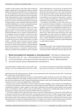 (PDF) (cs) - Gender, rovné příležitosti, výzkum