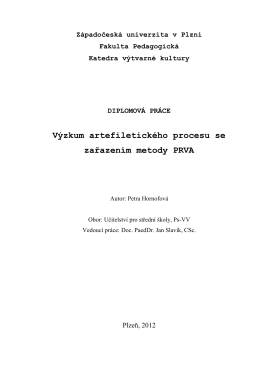 Diplomova prace 2012.pdf - Západočeská univerzita v Plzni