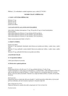 SPC Mirzaten 15 30 45 mg 121774-11