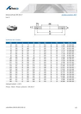 bloková příruba DIN 28117 tvar A