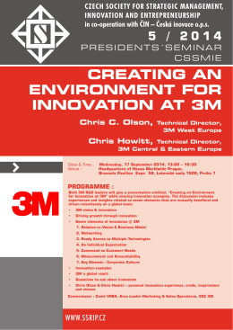 creating an environment for innovation at 3m