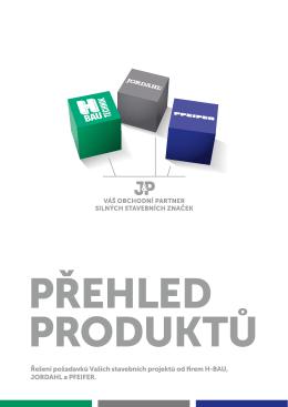 PDF Přehled Produktů J&P PŘEHLED PRODUKTŮ