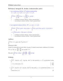 Křivkový integrál II. druhu (vektorového pole)