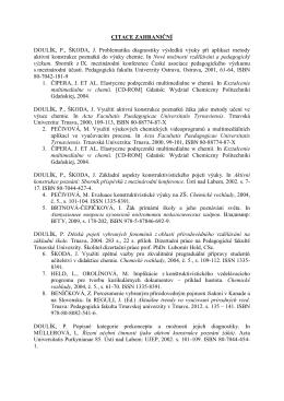 CITACE ZAHRANIČNÍ DOULÍK, P., ŠKODA, J