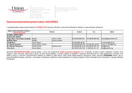 Doporučená zdravotnická zařízení a lékaři v BULHARSKU