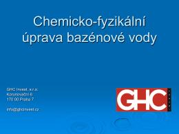 Chemická úprava bazénové vody