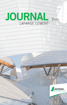 journal 2/2014 - Lafarge Cement a.s.