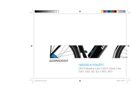Winora: SportiveLine návod cz 2013