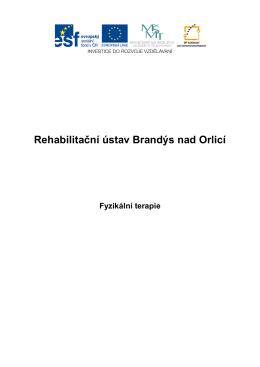 7. Fyzikální terapie - Rehabilitační ústav Brandýs nad Orlicí