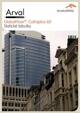 GlobalFloor®. Cofraplus 60 Statické tabulky