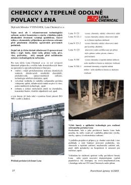 Chemicky a tepelně odolné povlaky Lena ( Povrchové úpravy 4.2005)