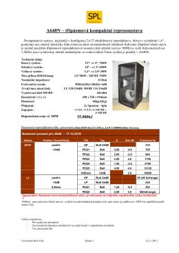 A640N – třípásmová kompaktní reprosoustava