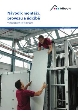 Návod k montáži, provozu a údržbě