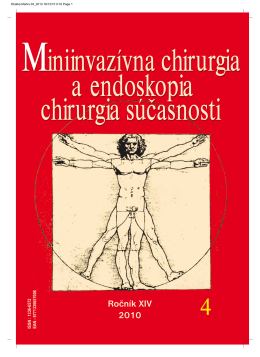 Ročník XIV 2010 - Laparoskopia & Endoskopia