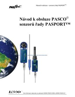 Návod k obsluze PASCO senzorů řady PASPORT™
