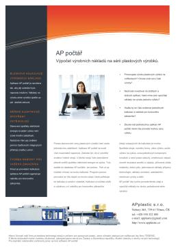 Informační leták v PDF