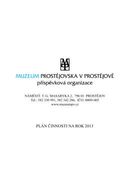 MUZEUM PROSTĚJOVSKA V PROSTĚJOVĚ příspěvková organizace