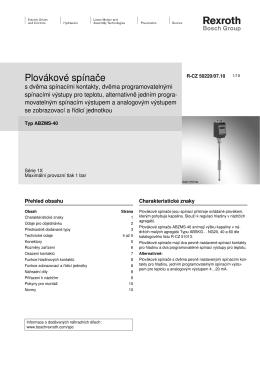 Plovákové spínače - Bosch Rexroth AG