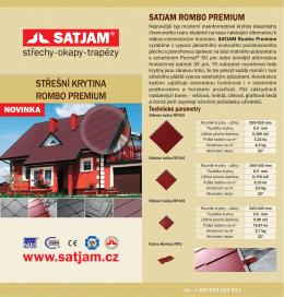 Montážní návod SATJAM Rombo Premium.