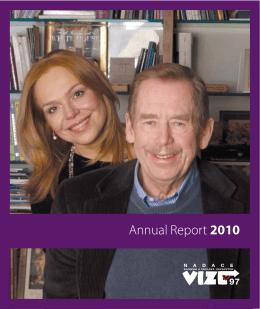 Annual Report 2010 - Nadace Dagmar a Václava Havlových